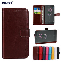 Luxury Flip PU Leather Wallet Mobile phone Cover Case For Sony Xperia X Performance with Card Holder