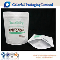 Customzied matte plastic bag 200g coffee body scrub packaging