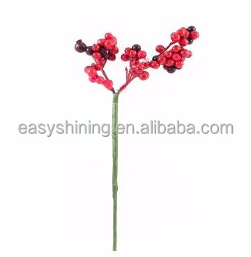 Cheap Christmas Decorative Red Artificial Berry Branch ESH0011