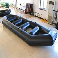 NB-AB-430-003 Aluminum Rigid Fiberglass inflatable boat for surfing