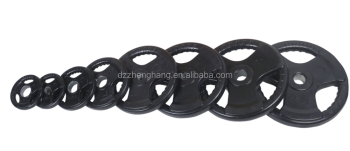 Black Rubber Coated Olympice Plate