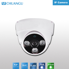 Plastic Indoor Dome 1.0mp dome ip camera 3pcs array ir led POE optional