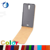 New Black Shine flip Leather Case For Sony xperia ZR M36h