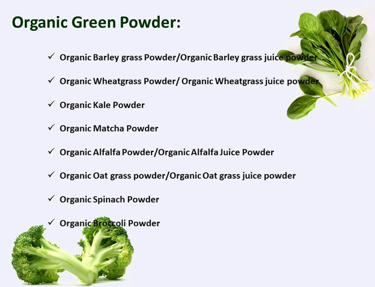 EOS & USDA Certified Organic Spinage Powder, Organic Spinach Powder
