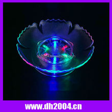 flashing led plastic fruit plate for bar, led fruit plate for party decoration