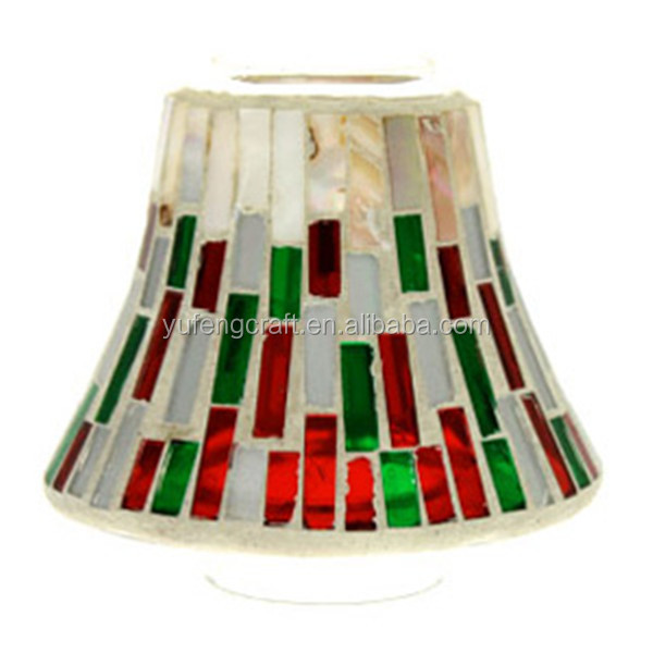 seashell mosaic mirro candle shade glass