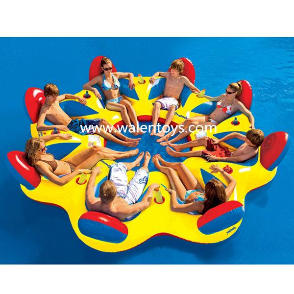 Intex opblaasbare eiland drijvende lounge vlot waterbuis for Aufblasbarer pool