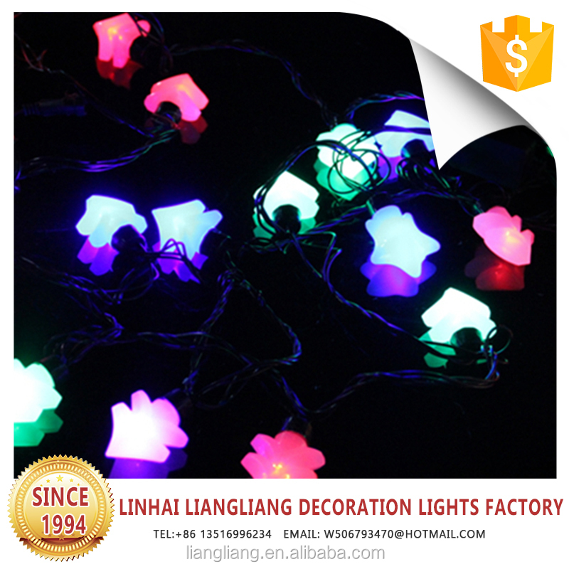 good quality factory outlet black wire colorful mini decoration christmas tree light