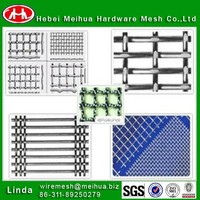 Factory stainless steel Barbecue crimped wire mesh