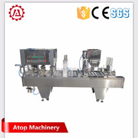 Automatic filling and sealing glass cup wine cup filling and sealing machine | | yogurt cup filling and sealing machine machine