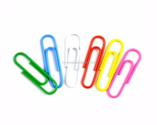 Wholesale rainbow color plastic coated paper fastener pin clips