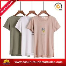 Low price t shirt fruit of the loom ladies plain t-shirt dresses 90% polyester 10% cotton t-shirt