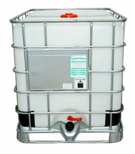 1000L plastic white ibc tote tank with steel outside for liquid storage