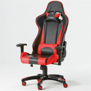 Racing style office computer back support cushion recliner massage motorized gaming chair