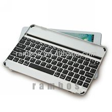 Folding Stand Leather Case Aluminum Wireless Bluetooth Keyboard for iPad Air for iPad 5