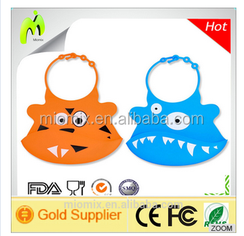 Colorful wholesale high quality silicone muslin baby bib