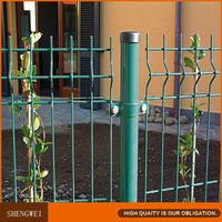 Safety pvc curve wire mesh fence