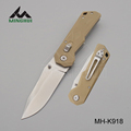 Sharp blade pocket knife in stainless steel with G10 handle