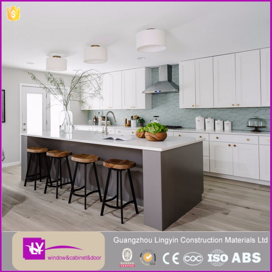 Simple kitchen design matte white color lacquer kitchen for Kitchen cabinets quality levels
