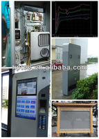 Ip55 200w side mounted mini industrial air conditioner for outdoor cabinet cooling