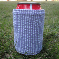 Wholesale Can cover , Seersucker Can cooler with Mixed Color DOM-105115