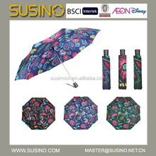 Susino 2015 new design 3 fold auto open & auto close wholesale umbrellas