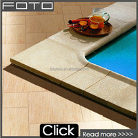 Full body sand stone porcelain tile for swimming pool rustic floor tile
