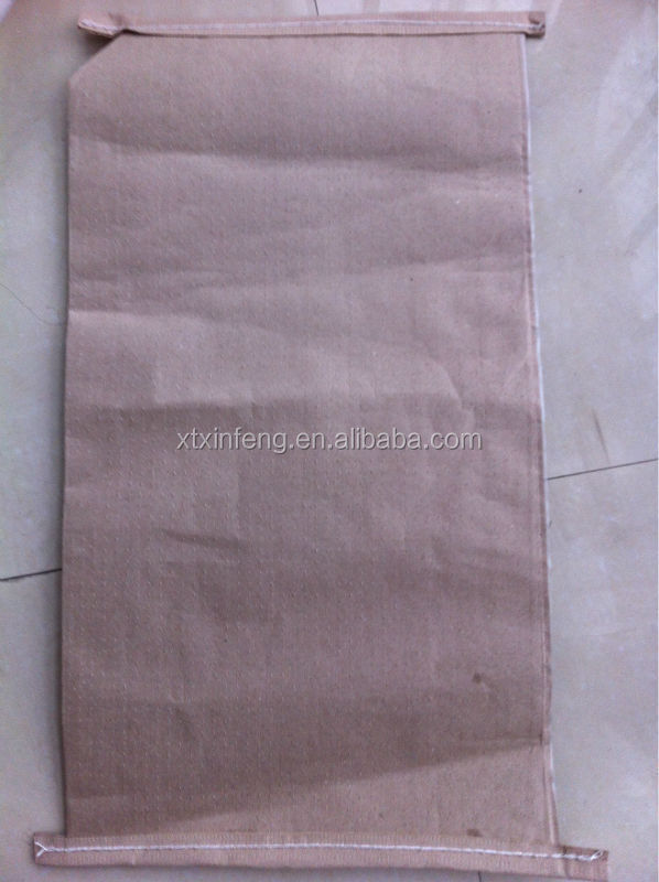 2015 cheap PLASTIC AND PAPER COMPOUND BAG 25kg kraft paper bag