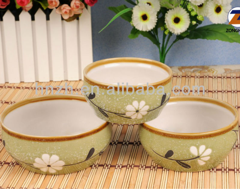 hand painted ceramic stackable soup bowls