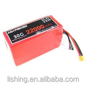 AGA POWER RC lipo battery, 22.2V 22000mah for DJI drone FPV Multirotors, with XT150&AS150 connectors