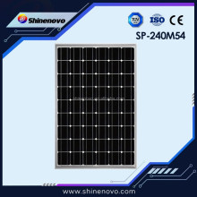 High Efficiency CE TUV Monocrystalline 240w solar panels