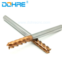 HRC45 CNC Machine Cutting Tools 4Flutes Solid Carbide endmills