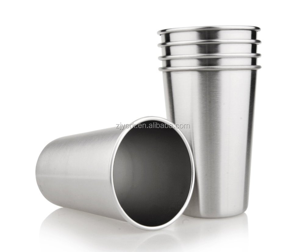 Customized <strong>cup</strong> 18/8 single wall,brush finish inside and outside, 16oz stainless steel beer mug /tumbler