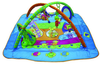 Musical baby play mat, bay play gym, blue color baby crawled mat
