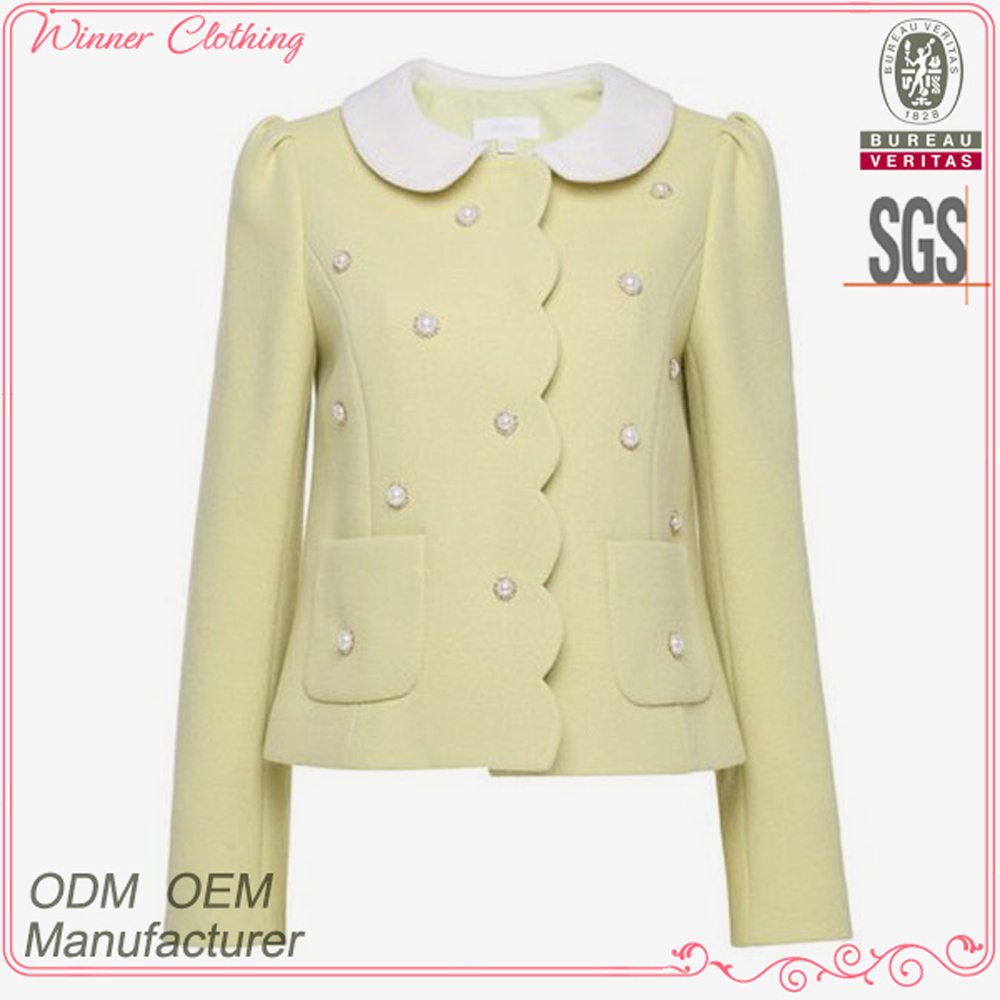 Latest design high fashion women's clothing garment apparel OEM/ODM manufacturer direct factory famous brand name jacket