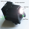 Rechargeable compact tactical green laser sight with 450 lumen led flashlight adjustment red dot laser bore sight
