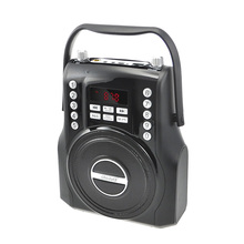 mutifunction square trolley wireless portable usb MP3 player bluetooth computer speaker with LCD FM radio microphone handsfree