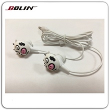 Lovely animal-shaped in-ear earphones for sale Cartoon gifts earphones for MP3/MP4/Player