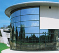 frameless glass curtain wall with competitive price from guangzhou glass factory
