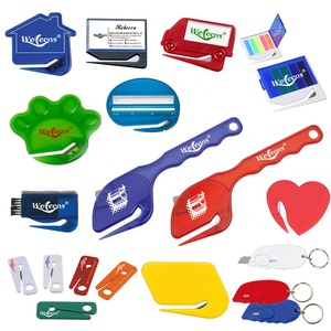 Wholesale Logo Customized Cheap Plastic Sittler Paper Letter Opener