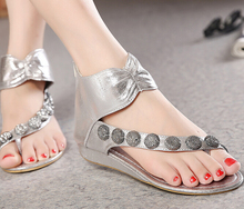 S11941A 2015 Best fashion summer foreign decorative beach flat sandals for women