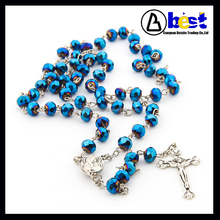 6mm Charming Crystal beaded rosary necklace