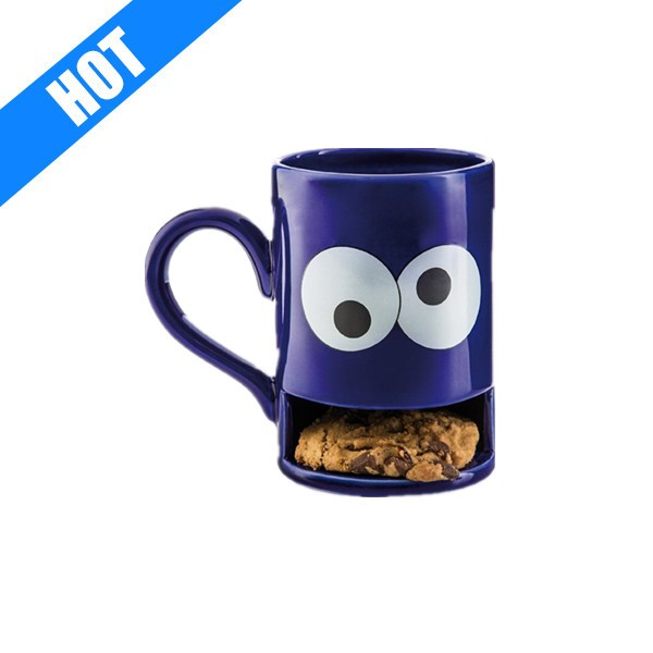 Personalized Ceramic Blue Monster Cookie Biscuit Holder Coffee Mug