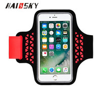 HAISSKY Sports Running Cell Phone Armband For iPhone 6 6s Samsung Galaxy S6 / S6 Edge S5 S4 S7 For iPhone Sports Mesh Armband