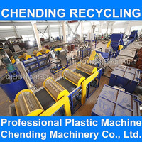 CHENDING plastic machinery for waste film washing recycling pp pe film washing recycling line