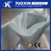 silver/pu/pvc coated taffeta fabric properties