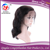 100% Human Hair Wholesale Price Top Quality Super Soft Charming Indian Temple Best Raw Hair Body Wave Full Lace Wig