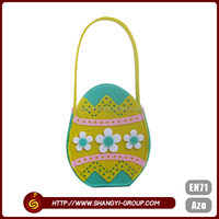 Wholesale Easter egg shape tote gift wrap storage bag