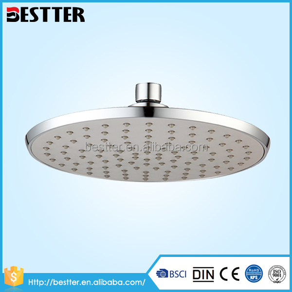 Explosion models chrome surface 8 inch ABS european shower head with Rech certification