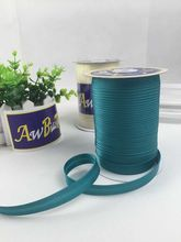"Wholesale 5/8"" 15mm AW Polyester Satin Bias Tape Single folded Bias Binding Tape Satin Ribbon Bias Tape"